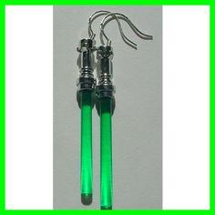 Lightsaber earrings