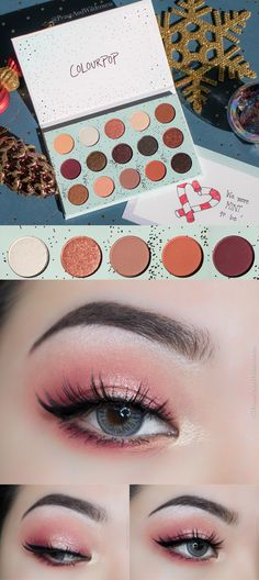 Warm peachy cranberry eyeshadow makeup created using ⋆ColourPop All I See is Magic Shadow Palette ⋆ REVIEW & SWATCHES – Peace & Wilderness