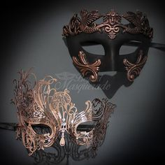 Couples Masquerade Masks His & Hers Masquerade Masks by 4everstore
