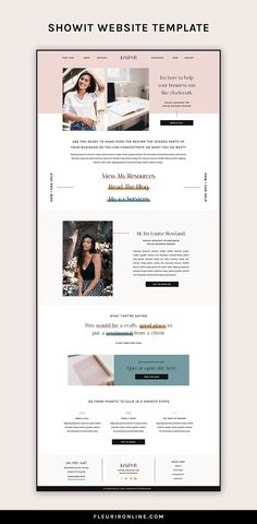 These Showit website templates are perfect for coaches, educators, content creators and online servi Website Design Inspiration, Landing Page Inspiration, Website Layout, Web Layout, Page Layout Design, Blog Layout, Web Design Tutorial, Design Web, Flat Design