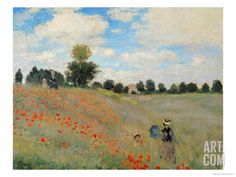 Wild Poppies, Near Argenteuil (Les Coquelicots: Environs D'Argenteuil), 1873 Giclee Print by Claude Monet at Art.com