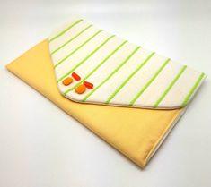 Lemon & Lime Envelope Clutch Bag Coin Purse Wallet Beads White Green Stripe Gift for Women Cotton Magnetic Snap Coin Purse Wallet, Clutch Bag, Decorative Beads, White Clutch, Great Birthday Gifts, Envelope Clutch, Etsy Shipping, Lemon Lime, Green Stripes