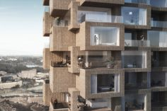 Tors Tower in Stockholm by OMA Architecture Architecture Résidentielle, Architecture Visualization, Amazing Architecture, Contemporary Architecture, Oscar Properties, Stockholm Apartment, Design Competitions, Win Competitions, Brutalist