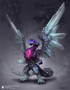Corrupted Crystal Dragon, Grigory Lebidko on ArtStation at https://www.artstation.com/artwork/corrupted-crystal-dragon