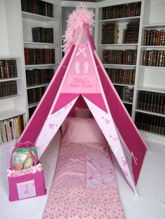 Ballet Themed Play Tent  Saw these tents and all the extras at the Nutcracker Market -- these are absolutely adorable!