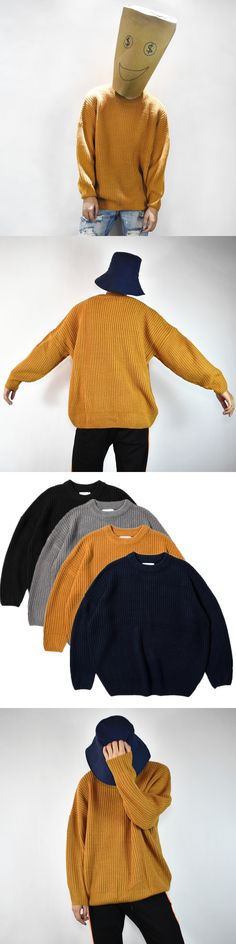 Men Women Fashion Pullover Tide New  Street Hip Hop Oversize Ginger Loose Line Sweater Long Sleeve Winter Coats IACB Store