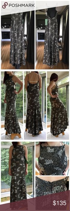 """⚜️Formal Backless Dress Backless, mermaid style fit that flares out at the bottom.   I have two sizes available; a 5.  MEASUREMENTS are:  Bust - 13.5"""". Waist - 13"""".  Front length 54"""" . Back length 51.5"""".   And a size 7.  MEASUREMENTS are:  Bust - 16"""".  Waist - 14"""".  Front length 58"""".  Back length 52.5"""". MODEL IN PICTURE IS 5'3"""" and 120lbs. She is wearing the size 5 in the picture. City Triangles Dresses Backless"""