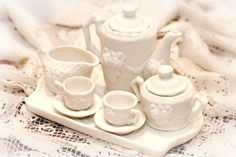 Miniture Tea Set by 2SHOPBOOTH54 on Etsy, $22.50