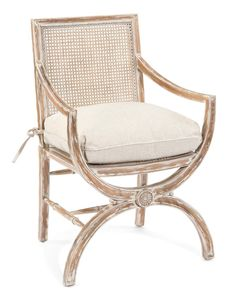 Armchair with Cane Seat and Back - Upholstered Exposed Wood - Upholstered Furniture - Our Products