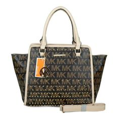 2014 Newest Michael Kors Selma Stud Logo Large Coffee Totes Has Distinct Style And High-Top Quality! #CelebrateWith #MichaelKors