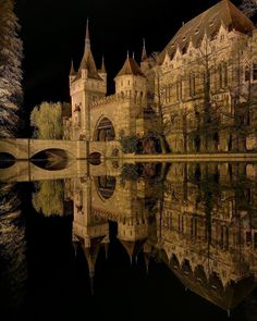Vajdahunyad Castle Beautiful Castles, Beautiful Buildings, Beautiful World, Beautiful Places, Castle Ruins, Castle House, Medieval Castle, Places Around The World, Around The Worlds