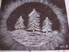Craies et peinture blanche