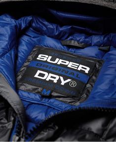 Superdry Chromatic Core Down Jacket - Mens Down Jackets Superdry Jackets, Superdry Mens, Mens Fashion Blazer, Fashion Outfits, Mens Down Jacket, Lightweight Jacket, Fabric Material, Women Lingerie, Motorcycle Jacket