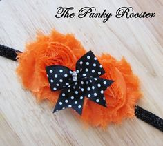 Fall Headband - Halloween Hair Bow