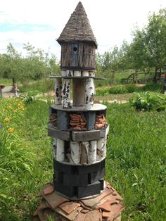 Insect hotel at the London Wetland Centre.