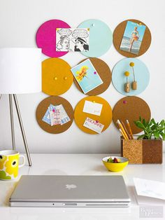 Cork transforms easily into coasters, memo boards, pushpins, tiles, and more. It's a great material to use to create function and beauty in your home.