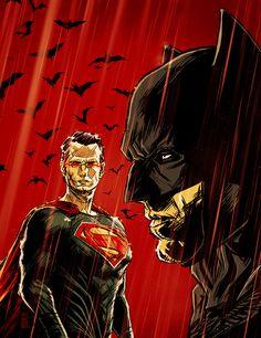 Batman Vs. Superman - 'Schokkend Nieuws' Cover by Gilles Vranckx / Blog