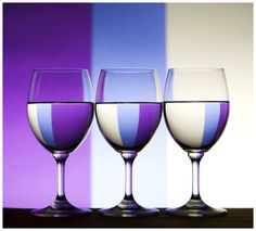 refraction through water glasses