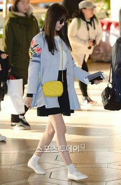 Kpop Fashion, All Fashion, Korean Fashion, Womens Fashion, Airport Fashion, Female Fashion, Kim Hyoyeon, Yoona Snsd, Kpop Girl Groups