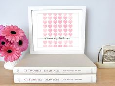 Printable - Dream Big Little One Watercolor Hearts Nursery Baby Kid Children's Room Gift Inspiration Motivation Pale Pink Custom Colors by CheekyAlbi, $6.00