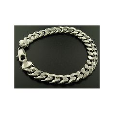 Luxury Cuban Curb Bracelet - Silver Plated - Men's - 10mm, Solid, Bling