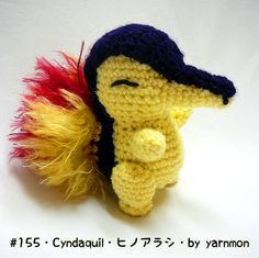 Cyndaquil Pokemon Amigurumi Plush by yarnmon.deviantart.com on @deviantART