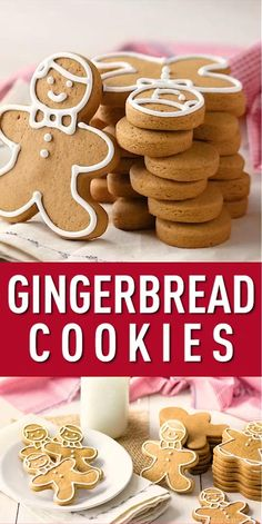 Ginger Bread Cookies Recipe, Peanut Butter Cookies, Ginger Bread Biscuits, Ginger Cookies, Crunchy Cookies Recipe, Recipe Ginger, Homemade Cookies, Chocolate Cookie Recipes, Easy Cookie Recipes