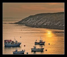 Bateaux au couchant au Conquet | Flickr - Photo Sharing!