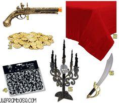 Comment préparer une Fête Pirate : Sélection Shopping : déco de table | Ju2Framboise.com
