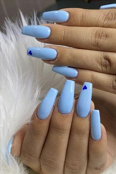 2020 A collection of fashion blue nails – Abby FASHION STYLE – louis vuitton nails acrylic Long Square Acrylic Nails, Blue Acrylic Nails, Acrylic Nails Coffin Short, Simple Acrylic Nails, Pastel Blue Nails, Purple Nails, Blue Coffin Nails, Light Blue Nails, Matte Nails