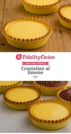 Italian Desserts, Italian Recipes, Sweets Recipes, Cake Recipes, Sweet Tarts, Eclairs, Vegan Dishes, Mini Cakes, Nutella
