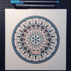 """Last Mandala of the Month !! #31  Woke up early to finish this one... Sadly the last one. Thank you everyone again for the support, I really appreciate…"""