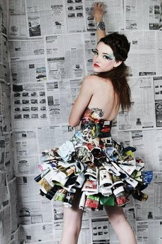 Totally Trashed Fashion magazine dress