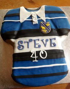 Rugby shirt cake. Shirt Cake, Grad Parties, Rugby, Cakes, Birthday, Party, Shirts, Ideas, Fashion