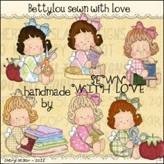 Betty Lou Sewn With Love 1 - Clip Art by Cheryl Seslar