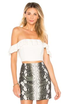 e3ab81a48fcf63 Lana Ruffle Crop Top in White at REVOLVE. Free day shipping and returns