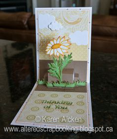 A beautiful Pop-Up card by Karen Aicken using the Lots of Pops die, Velvet Adhesive Sheets and the Daisy die by Elizabeth Craft Designs. http://ecraftdesignsblog.com/2014/04/velvet-daisy-card/