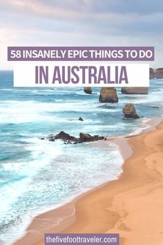 This is the 58 Insanely Epic Things to do in Australia. Plan your trip Down Under with these adventures, activities and must-dos in the best places to visit in Australia! Australia is such a big country, planning your trip can be daunting - so check out my absolute favorite things to do in Australia. #australia #australiatravel | What to do in Australia | Best things to do in Australia | Australia Bucket List | Brisbane, Melbourne, Sydney, Perth, Beautiful Places To Visit, Cool Places To Visit, Places To Travel, Travel Destinations, Australia Travel Guide