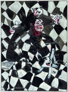 Peter Sengl, Katzverbesserte-Karo-Hutterz, 2011 © Im Besitz des Künstlers Gustav Klimt, New Words, Exhibitions, Vienna, Art Nouveau, Darth Vader, Museum, Artist, Painting