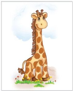 Amazon.com: Jungle Art Collection - Giraffe - Childrens Wall Art, 8 x 10: Home & Kitchen