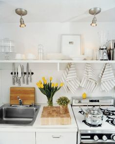 love everything about this kitchen via Domino Magazine