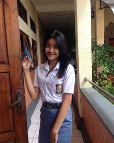Katana Girl, Army Police, Indonesian Girls, Gorgeous Women, Beautiful, School Uniform, Maui, Teen Fashion, Shirt Dress
