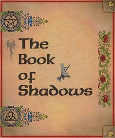 Book of Shadows cover page 1 by ~Sandgroan on deviantART
