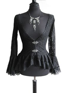 Blouse Papillon, black lace, victorian, steampunk, aristocrat, historical, gothic, Somnia Romantica by Marjolein Turin for $89.00 at etsy.com