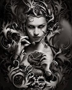 In my web by Sanctus Design © (Please leave credit … Ƹ̴Ӂ̴Ʒ) Medusa Art, Medusa Tattoo, Skull Tattoos, Body Art Tattoos, Sleeve Tattoos, Day Of The Dead Art, Skull Wallpaper, Sugar Skull Art, Chicano Art