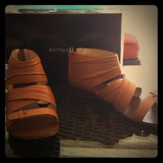 Just SOLD  on POSHMARK: Like New BOUTIQUE 9 Gladiator Sandals-Sz 9   @Poshmark