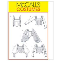McCall's Patterns M4696 Misses' Renaissance Tops