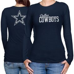 2243e3109 Dallas Cowboys Women s Marquee Long Sleeve T-Shirt - Navy Blue Dallas  Cowboys Outfits