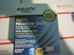 Gum and Lozenges: Equate Nicotine Gum, 2 Mg, Original Flavor, 170 Pieces, 2018 -> BUY IT NOW ONLY: $31.95 on eBay!