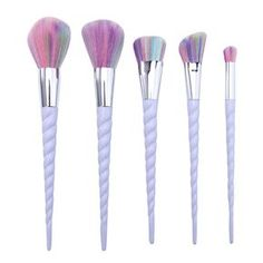 5 Piece Unicorn Makeup Brush Set
